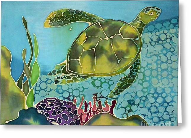 Artwork Tapestries - Textiles Greeting Cards - Bubbles Greeting Card by Jamie Schab