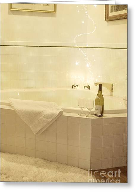 Wine Bottle Images Greeting Cards - Bubbles Greeting Card by Juli Scalzi