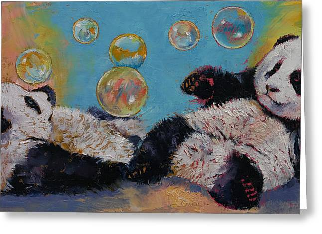Wasted Greeting Cards - Bubbles Greeting Card by Michael Creese