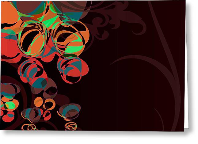 Abstract Series Digital Art Greeting Cards - Bubbling Bubbles - 45 Greeting Card by Variance Collections