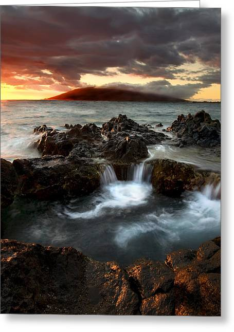 Maui Greeting Cards - Bubbling Cauldron Greeting Card by Mike  Dawson