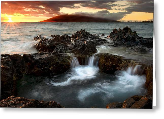 Ocean Greeting Cards - Bubbling Cauldron Greeting Card by Mike  Dawson