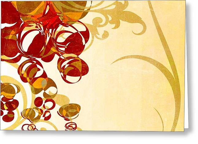 Beige Abstract Greeting Cards - Bubbling Bubbles - 102br03 Greeting Card by Variance Collections