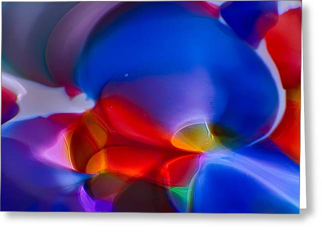 Art Blown Glass Photographs Photographs Photographs Greeting Cards - Bubbling Greeting Card by Omaste Witkowski