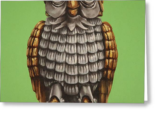 Bubo Greeting Card by Brent Andrew Doty