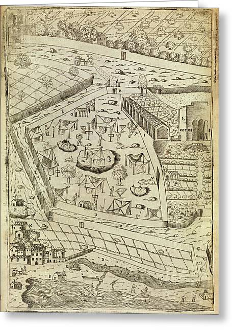 Bubonic Plague Quarantine Site Greeting Card by Middle Temple Library