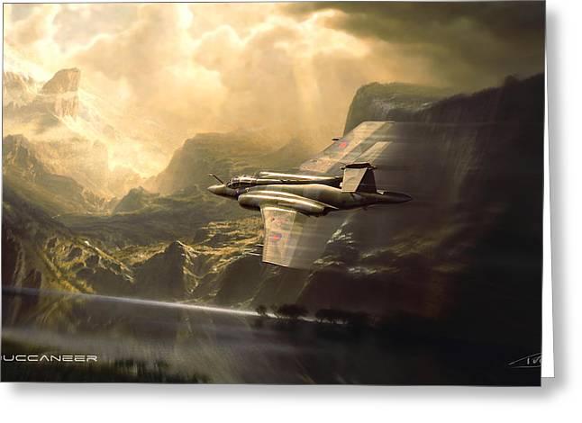 Wwi Greeting Cards - Buccaneer Greeting Card by Peter Van Stigt