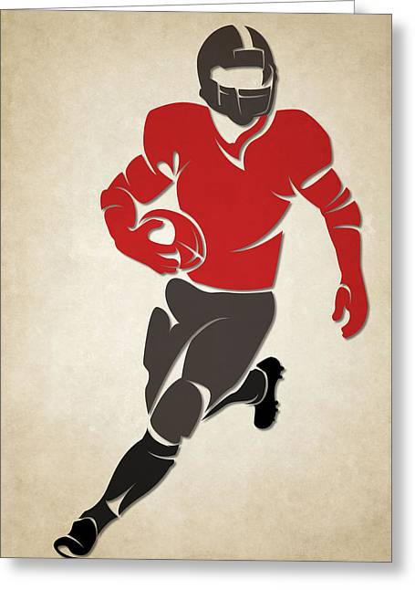 Buccaneer Greeting Cards - Buccaneers Shadow Player Greeting Card by Joe Hamilton