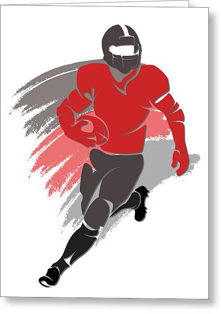 Buccaneer Greeting Cards - Buccaneers Shadow Player2 Greeting Card by Joe Hamilton