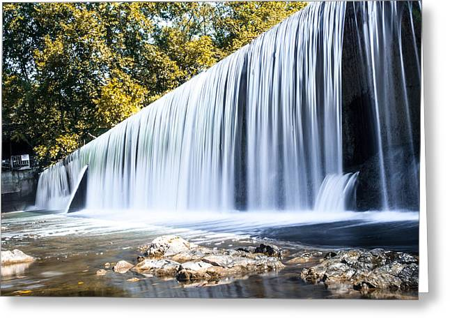 Waterfall Photographs Greeting Cards - Buck Creek Falls in Autumn Greeting Card by Shelby  Young