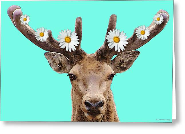 Buck Deer Art - Dont Shoot Greeting Card by Sharon Cummings