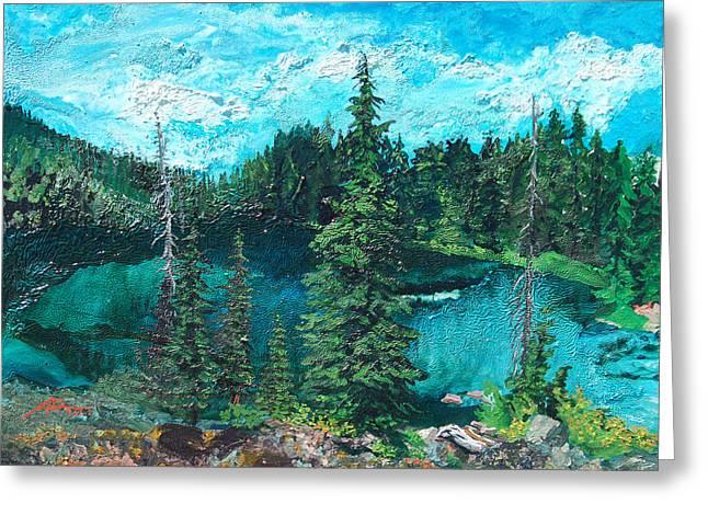 Buck Lake Greeting Card by Joseph Demaree