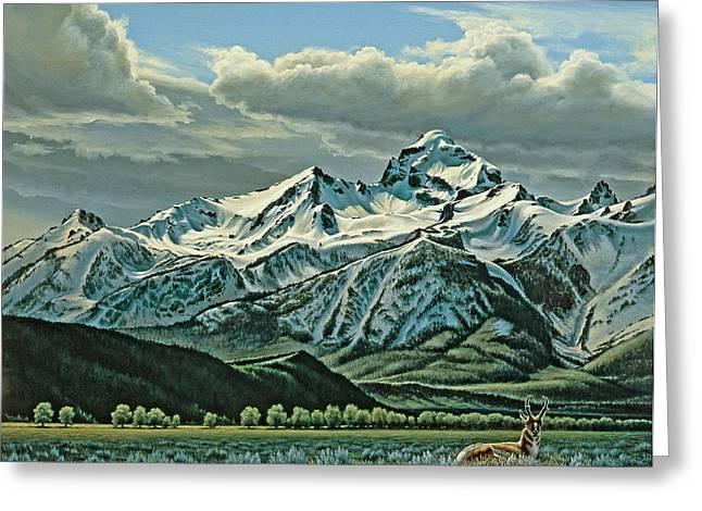 Pronghorn Greeting Cards - Buck Mountain from Antelope Flat Greeting Card by Paul Krapf