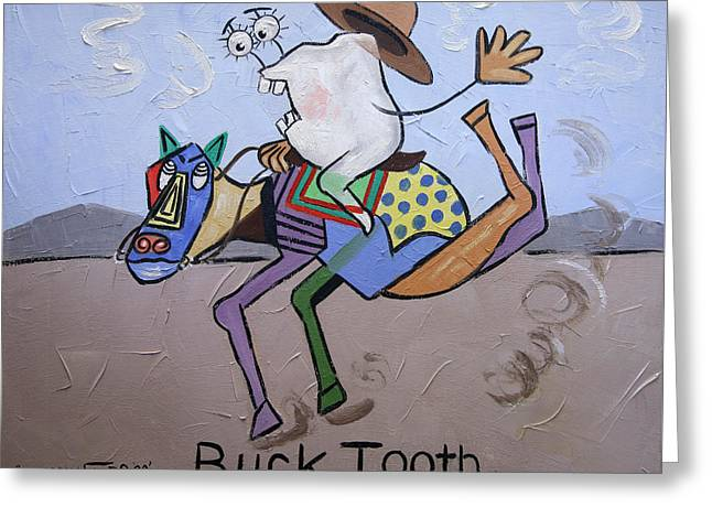 Buck Tooth Greeting Card by Anthony Falbo