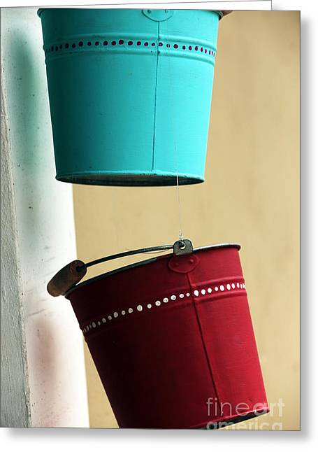 Photo Art Gallery Greeting Cards - Bucket Colors Greeting Card by John Rizzuto