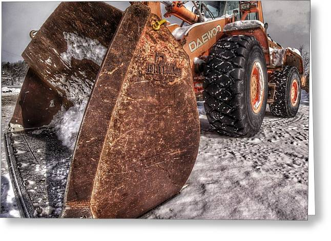 Front End Loader Greeting Cards - Bucket Greeting Card by Lliem Seven