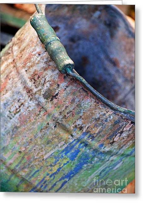 Rust Bucket Greeting Cards - Bucket of Colors Greeting Card by Gwyn Newcombe