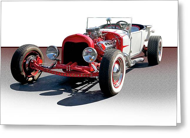 Sixties Style Automobile Greeting Cards - Bucket T Sixties Style Greeting Card by Dave Koontz