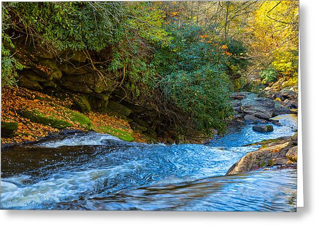 Scenic Drive Greeting Cards - Buckhorn Creek Greeting Card by John Bailey