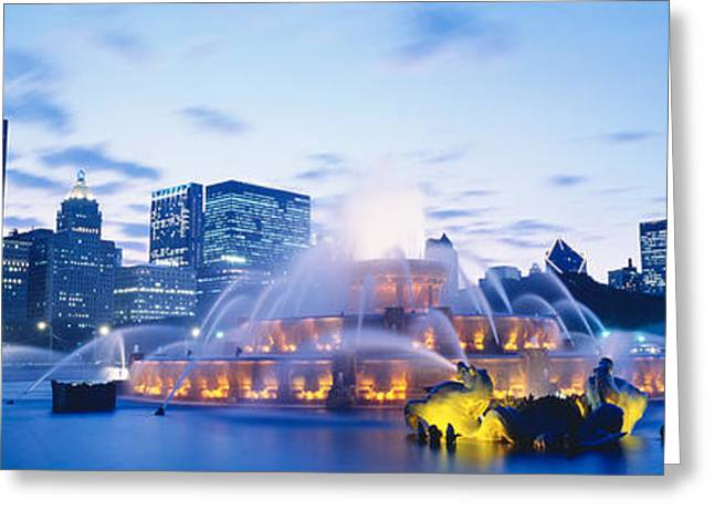 Metropolitan Park Greeting Cards - Buckingham Fountain, Grant Park Greeting Card by Panoramic Images