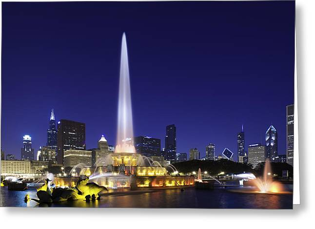 Sears Greeting Cards - Buckingham Fountain Greeting Card by Sebastian Musial