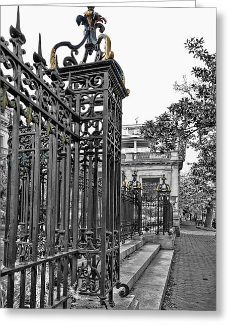 Juliette Low Greeting Cards - Buckingham Gates Greeting Card by Diana Powell