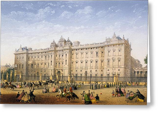 Railing Greeting Cards - Buckingham Palace, C.1862 Greeting Card by Achille-Louis Martinet