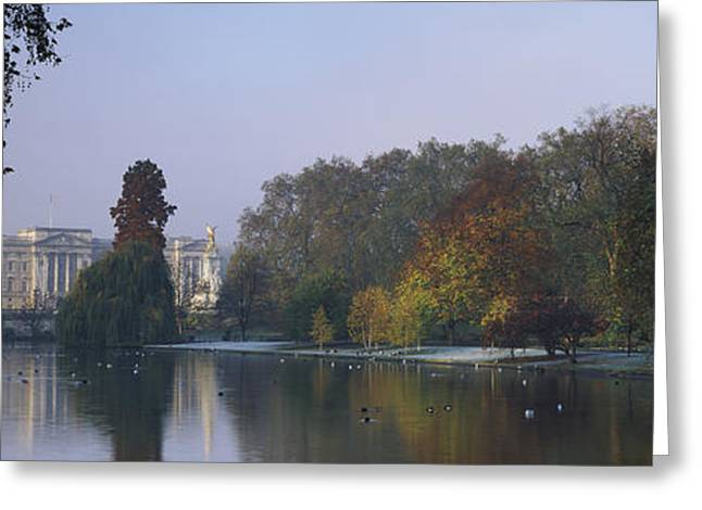 Colors Of Autumn Greeting Cards - Buckingham Palace, City Of Westminster Greeting Card by Panoramic Images