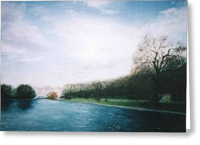 Hyper-realism Greeting Cards - Buckingham Palace Gardens Greeting Card by Hirokazu Tomimasu