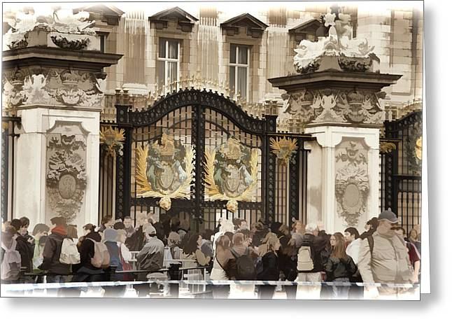 Buckingham Palace Greeting Cards - Buckingham Palace Gates Greeting Card by Jon Berghoff