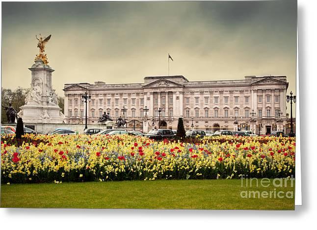 British Royalty Greeting Cards - Buckingham Palace in London UK Greeting Card by Michal Bednarek