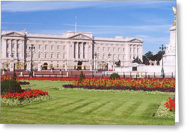 Royalty Greeting Cards - Buckingham Palace, London, England Greeting Card by Panoramic Images