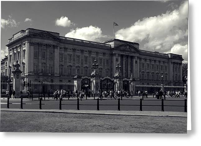 Buckingham Palace Greeting Cards - Buckingham Palace Greeting Card by Sharon Lisa Clarke