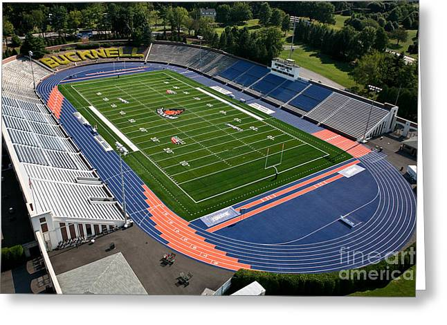Christy Mathewson Greeting Cards - Bucknell University Football Stadium Greeting Card by Anthony Salerno