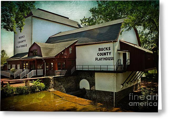 Home Theatre Greeting Cards - Bucks County Playhouse Greeting Card by Colleen Kammerer