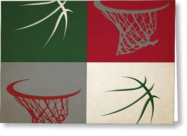 Dunk Greeting Cards - Bucks Hoop And Ball Greeting Card by Joe Hamilton