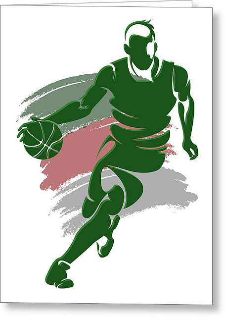 Players Greeting Cards - Bucks Shadow Player4 Greeting Card by Joe Hamilton