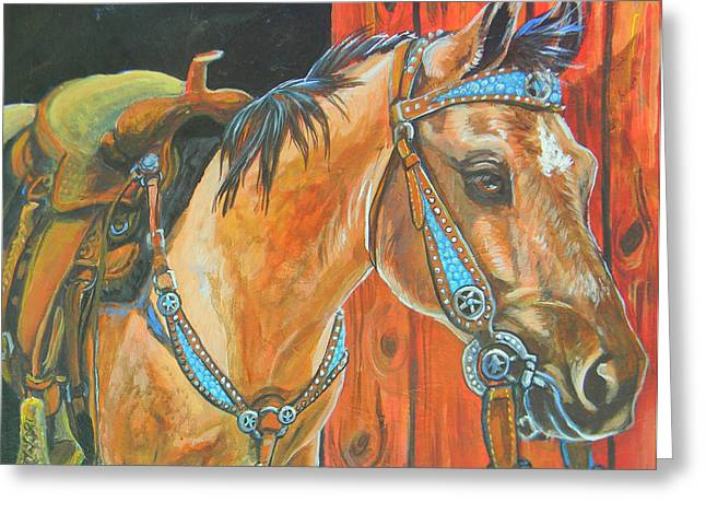 Jenn Cunningham Greeting Cards - Buckskin filly Greeting Card by Jenn Cunningham