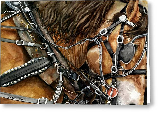 Nadi Spencer Paintings Greeting Cards - Buckskin Greeting Card by Nadi Spencer