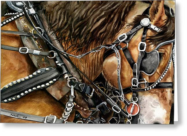 Nadi Spencer Greeting Cards - Buckskin Greeting Card by Nadi Spencer