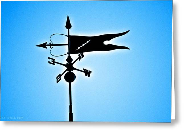 Weathervane Greeting Cards - Bucksport Weathervane Greeting Card by Tara Potts