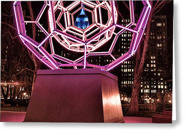 bucky ball Madison square park Greeting Card by John Farnan
