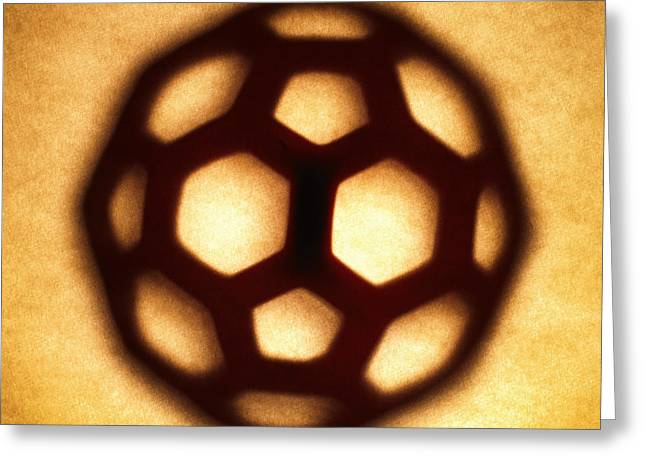 Brown Tone Greeting Cards - Buckyball Greeting Card by Tony Cordoza