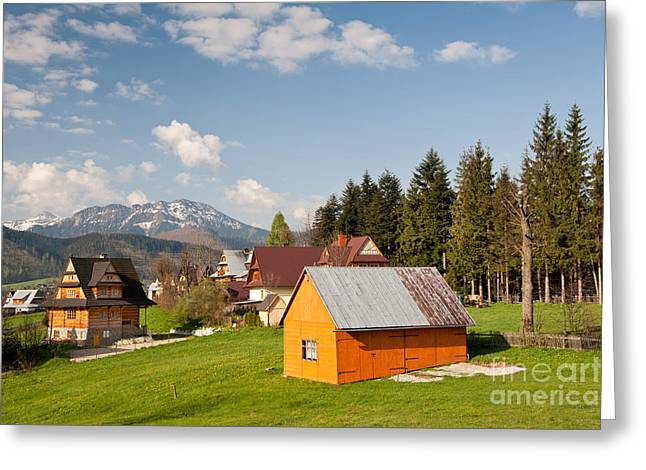 Vale Greeting Cards - Bucolic view in Koscielisko village Greeting Card by Arletta Cwalina
