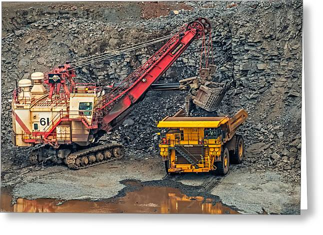 Mine Pit Greeting Cards - Bucyrus Shovel Greeting Card by Paul Freidlund