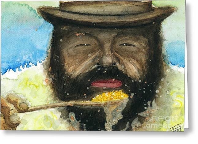 Sergio Leone Greeting Cards - Bud and Beans Greeting Card by Frankie Eighties
