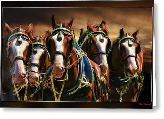 Horse Websites Greeting Cards - Bud Boys Greeting Card by Blake Richards