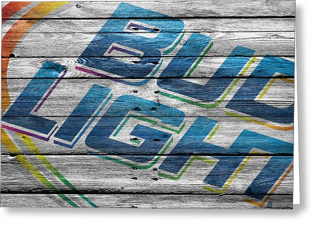 Saloons Greeting Cards - Bud Light Greeting Card by Joe Hamilton
