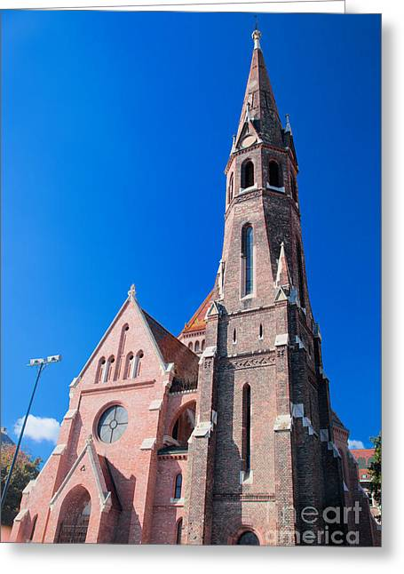 Reform Photographs Greeting Cards - Buda Reformed Church in Budapest Greeting Card by Michal Bednarek
