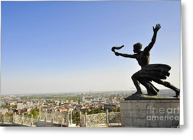 Budapest Citadella Monument  Greeting Card by Judith Katz